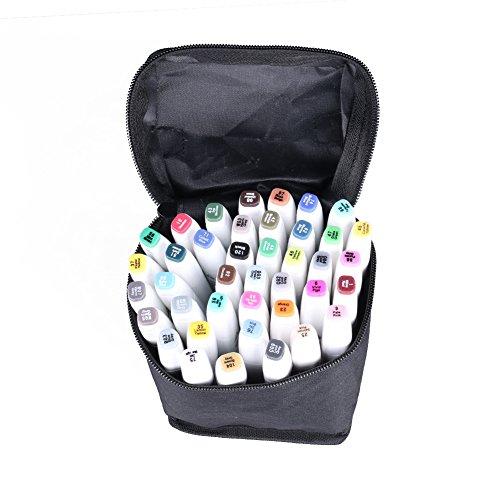 gomnear-40-colores-mariposas-gemelas-doble-punta-de-dibujo-de-arte-resaltador-con-funda-de-transport