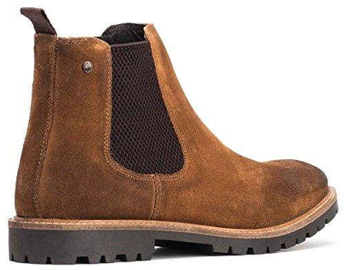 Base London Mens Turret Suede Boots Cognac