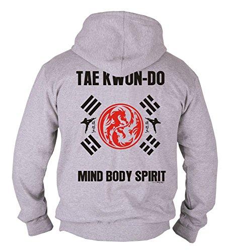 Dirty Ray Martial Arts MMA Tae Kwon Do Mind Body Spirit men's hooded sweatshirt B39