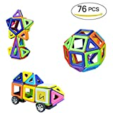 76 PCS Magnetic Building Blocks Construction Set toys and Educational Stacking Toys for Adults and Toddlers (Children over Three Years Old)