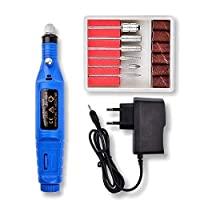‏‪Electric Engraving Engraver Pen Polish Carving Tool Adjustable Rotating Speed Carve Tool For Wood Stone Plastic Glass Small Crafts Blue‬‏