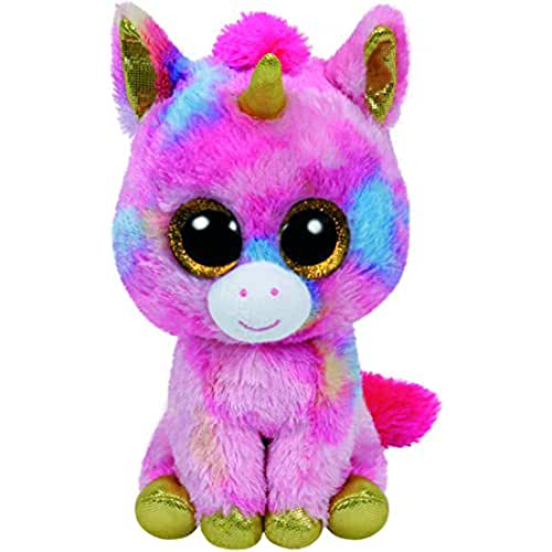 peluches TY - Beanie Boos Fantasia, unicornio, 40 cm, color rosa (United Labels Ibérica 36819TY)