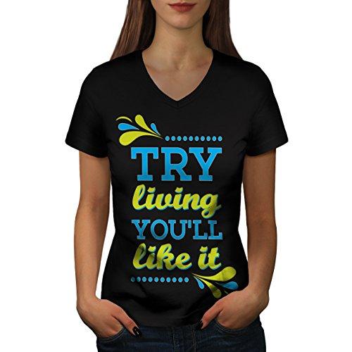 versuchen-positiv-leben-hell-leben-damen-neu-schwarz-s-2xl-t-shirt-wellcoda