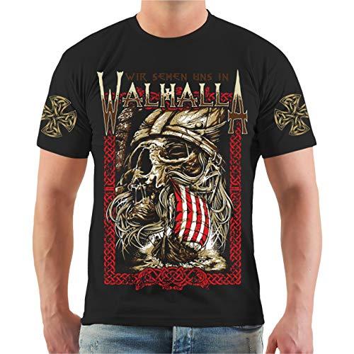 Männer und Herren T-Shirt Wir sehen Uns in Walhalla Größe S - 8XL