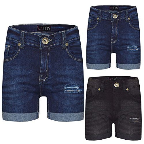 A2Z 4 Kids® Kids Girls Shorts Denim Ripped Chino Bermuda Jeans Shorts Casual Half Pant New Age 5 6 7 8 9 10 11 12 13 Years