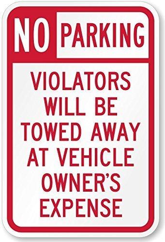 No Parking zone-tow an Eigentümer, Kosten Zeichen–45x 30Hi Prismatischer Reflektierende Platten, hell wie die Suche Licht. mutcd konform Tow entfernt Schild. Leicht installiert auf Wänden, Gebäude und Pfosten (Wand-schild Platte)