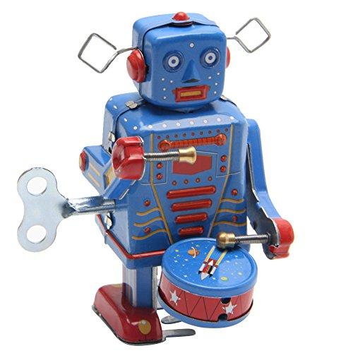JAGENIE Retro Clockwork Wind Up Metall Walking Roboter Spielzeug Vintage Sammler Kinder GeschenkWeihnachten Neujahr Geschenk, 1 Stück, zufällige Lieferung - Walking-spielzeug-roboter