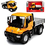 alles-meine GmbH Mercedes-Benz Unimog U400 Orange LKW Truck 1/32 Welly Modell Auto