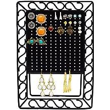 Mini Metal Pendiente Organizador - Negro