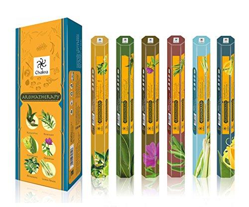 Aromathérapie Parfum naturel Sticks parfumées - Santé et bien Favorise 20 être- Bâtons d'encens par boîte - Long Lasting 120 bâtons de parfum - Paquet de 6