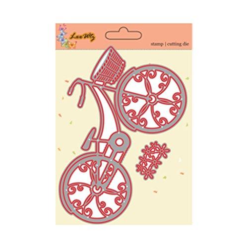 Lot de 2 pochoirs de vélo découpés en papier pour scrapbooking