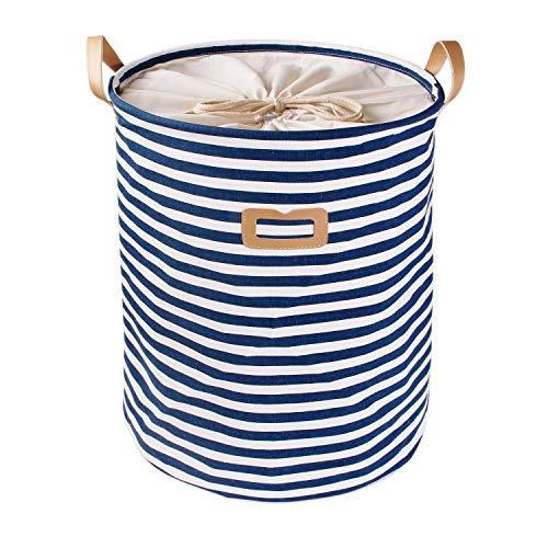 *ALLTOP premium cartoon foldable cotton line Wäschekorb Klapp Kinder Spielzeug organizer Spielzeug aufbewahrung Spielzeug Warenkorb Kleidung Halter wäschebox mit Deckel gepunktet, blau 2*