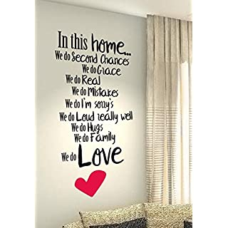 Home Rules - Life Family Love Quote wall vinyl decals stickers Art Decor DIY