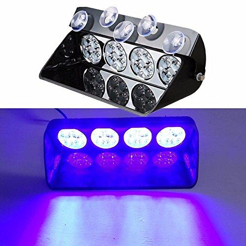 48 W du pont de pare-brise LED strobe lumière S16 Viper de voiture Flash de signal d'urgence le Pompier Police Beacon avertissement Bleu clair Couleur