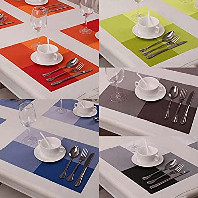 Set of 4 Large Rectangular Table Mats PlaceMats Protector Dining Decoration