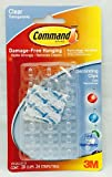 3M Command Strips Hooks Decorating Damage Free Picture Poster Hanging All Purpose Use Utility Photo Decoration Hook (Decorating Clips / Hooks, For Indoor Use)