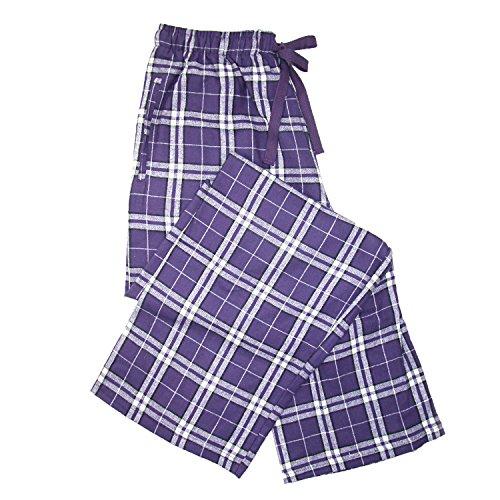 boxercraft Damen Schlafanzughose, Kariert Einheitsgröße Violett