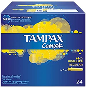 Tampax Compak Regular tampons x 24 cm with Applicator -
