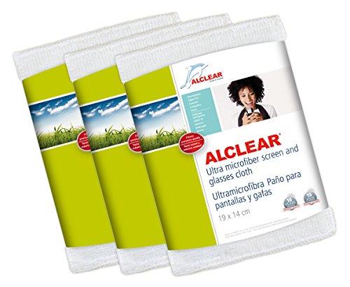 ALCLEAR 950003Spezialtücher Tuch für Displays und Brille, 19x 14cm, weiß 3 Stück (Camaras Iphone Para)