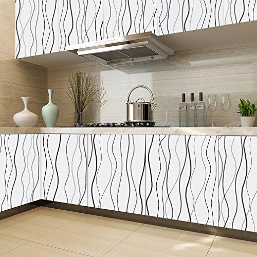 kinlo-adesivi-carta-061-5m1-rotolo-rinnovato-mobili-da-cucina-guardaroba-pvc-wall-paper-bianco-con-i