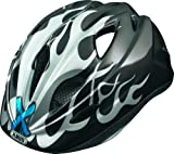 ABUS Kinder Fahrradhelm Super Chilly, x-flame grey, 45-50 cm, 55420-9