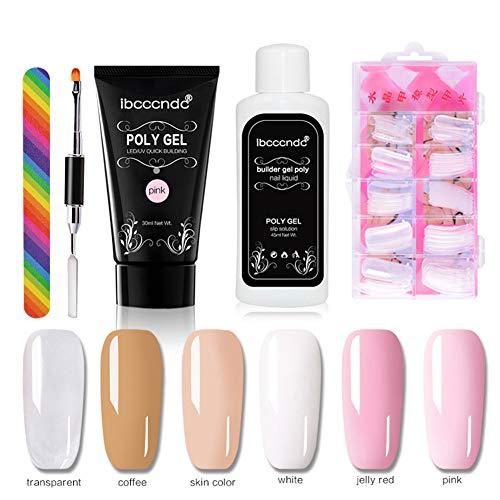 nieliangw0q Set Di Strumenti Per Manicure Per Manicure Con Estensione Di Gel Per Gel UV Per Ricostruzione Unghie Trasparente