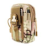 #4: FLOVEME Tactical Molle Pouch Waist Bag Pack Utility Gadget Belt with Cell Phone Holster Holder for iPhone 5 5s 6 6s 7 Plus, Samsung S4 S5 S6 S7 Edge Note 2 Phones Smaller than 5.5 inch - CP Camouflage