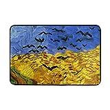 JSTEL Vincent Van Gogh-Fußmatte waschbar Garten Büro Fußmatte, Küche ESS-Living Badezimmer Pet Eintrag Teppiche mit Rutschfeste Unterseite