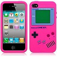 HOT PINK GAME BOY STYLE Silikon Skin für iPhone 4 / 4G