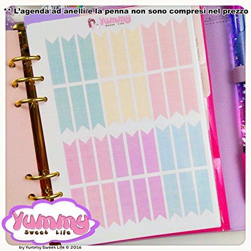 2-fogli-di-adesivi-stickers-a5-flags-bandierine-lunghe-pastello