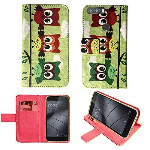 starz mobiles accessoires Gigaset GS370 - PU Leder Tasche Hülle/TPU Schutz Handytasche (3 Owls) Owl Mobile