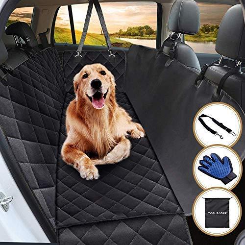 Spielzeug Liefert Frisbee Plüschbär Autositzbezug für Hunde, mit 2 verstellbaren Sicherheitsgurten und 1 Haustier-Handschuh, 2-in-1, wasserfest, für Autositz, maschinenwaschbar Reinigung Ungiftig -