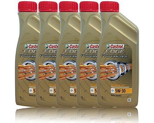 Castrol Edge Professional C15W-30 Lot de 5x1L d'huile avec Titanium FST® pas cher