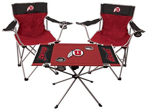 Rawlings NCAA Unisex NCAA 3-teilig Heckklappe Kit, Unisex, NCAA 3-Piece Tailgate Kit, rot, Adult