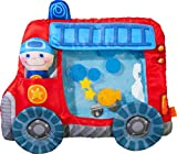 HABA 303820 - Wasserspielmatte Feuerwehr | Wasserbefülltes Baby-Spielzeug mit Schwimmelementen, Quietschelement und herausnehmbarer Figur | Ab 6 Monaten