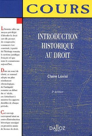 Introduction historique au droit : Edition 2007