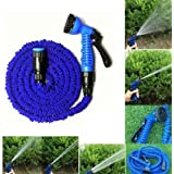 Toku 50 Ft Expandable Hose Pipe Nozzle For Garden Wash Car Bike With Spray Gun And 7 Adjustable Modes