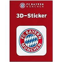 3D Aufkleber Logo rot FC Bayern München + gratis Aufkleber forever München, etiqueta engomada / Sticker / autocollant 3D Sticker, Autoaufkleber FCB