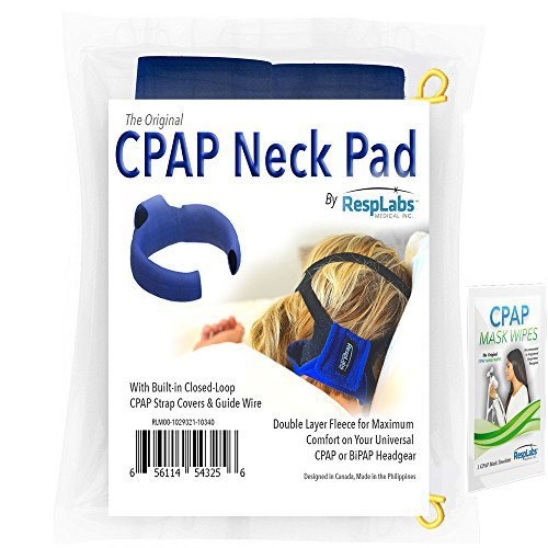 Resmed-nasen-maske (CPAP Nackenpolster, Fleece-Material gebaut Riemenabdeckung von RespLabs Medical | Full Face oder Nasen ResMed oder Phillips Respironics Masken + Probe Wipe & CPAP Chap)