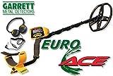 Metallsuchgerät Metalldetektor Garrett Euro Ace 350Metaldetector Gold + Kopfhörer