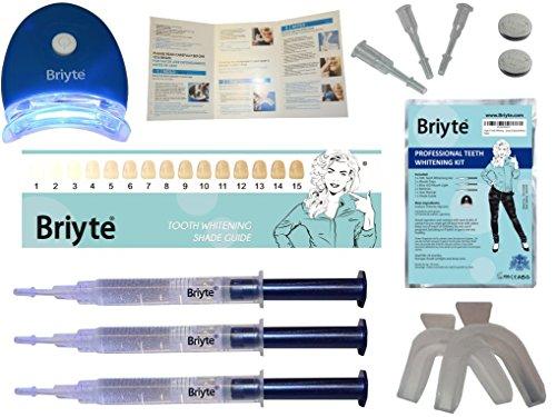 Briyte ® HOME Teeth Whitening Kit (TEETH WHITENING) Pro Teeth Whiten Tooth Whitening Dental Care White 3x GEL Bleaching Kit Briyte Crest UK Express Test