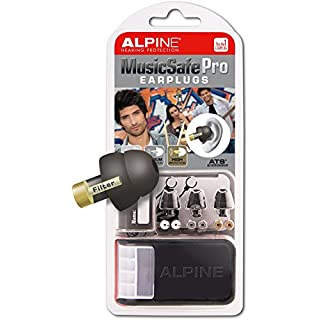 Alpine MusicSafe Pro - Filter Ear Plugs for Musicians - Black - 3 Sets of Filters and Storage Box