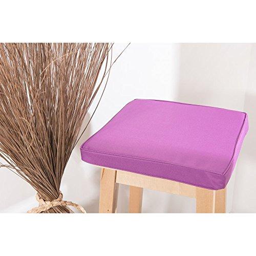 RideauDiscount Galette de Chaise Imperméable Carrée 38 x 38 x 4 cm Violet