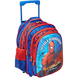 Spiderman Polyester Blue School Bag (Age group :8-12 yrs)