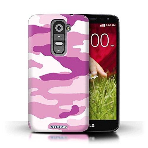 Kobalt® Imprimé Etui / Coque pour LG G2 Mini/D620 / Bleue 3 conception / Série Armée/Camouflage Rose 2