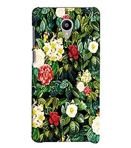 Blue Throat Sceneric Flower Pattern Printed Designer Back Cover For Meizu M2