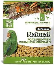 Zupreem Natural Blend Diet for Medium/Large Birds, 3-Pound by Monster Pets