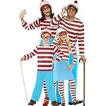 Familia Hombre Mujer Niño Niña Infantil Dónde Está Wally Waldo Día de libro de Wenda parejas disfraces de Halloween Disfraz Trajes
