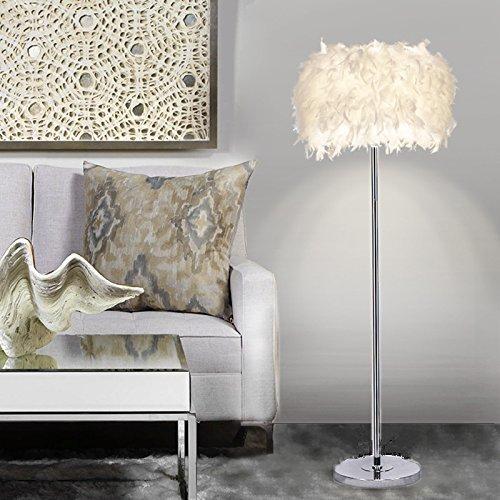 ELINKUME Moderne LED Stehlampe Einzigartiges Design Hohe Qualität Modern Style-4: White Modern Feather Floor Lamp -