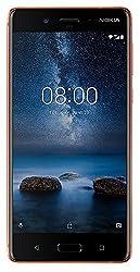 Nokia 8 Smartphone (13,4 cm (5,3 Zoll), 64 GB ROM, 4 GB RAM, 13 MP Kamera, Single Sim, spritzgeschützt (IP54), Android Nougat) kupfer